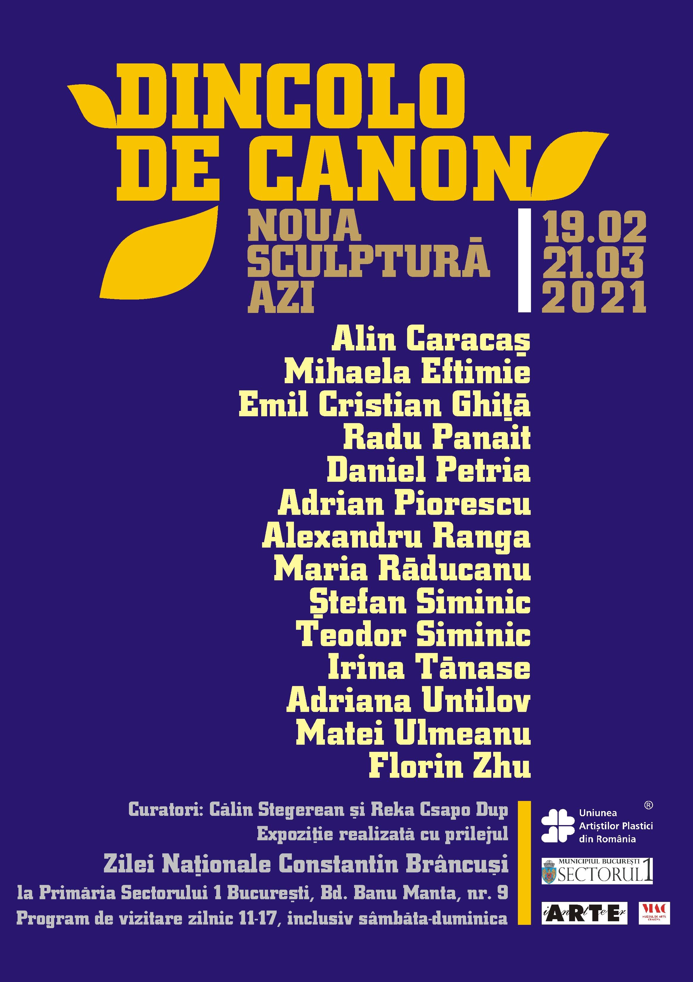 """Primăria Sectorului 1, gazda expoziției """"Dincolo de canon. Noua sculptură azi"""""""