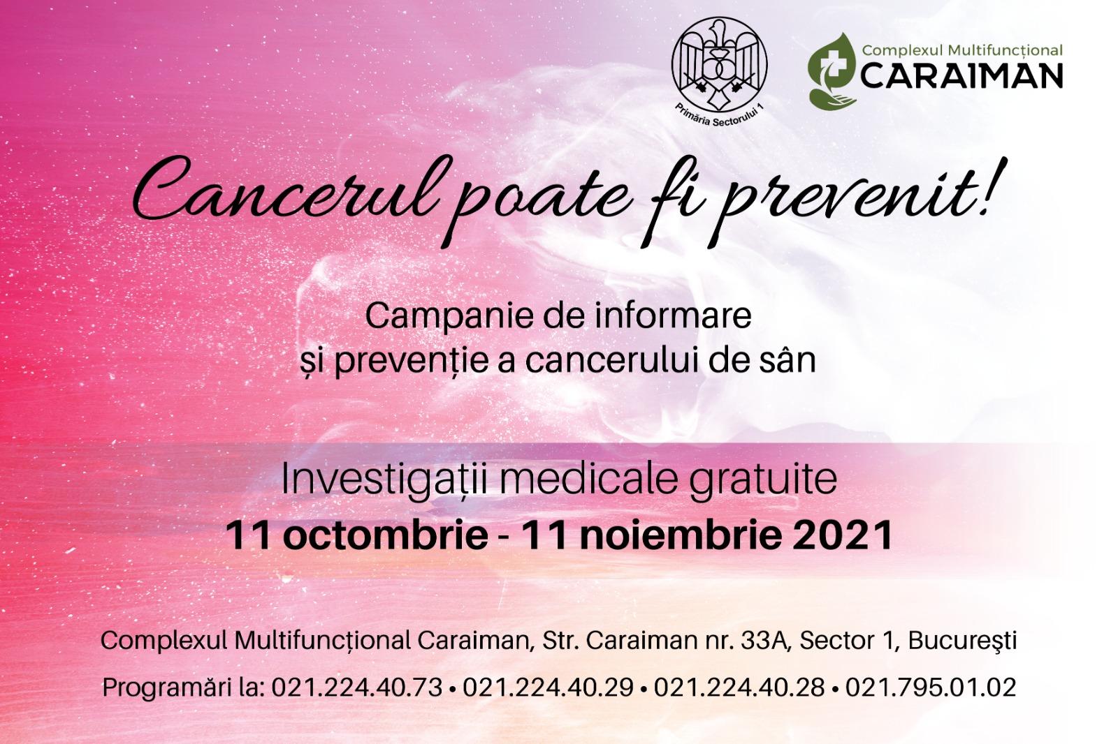 Mamografii și ecografii mamare gratuite pentru femeile din Sectorul 1 la Complexul Multifuncțional Caraiman