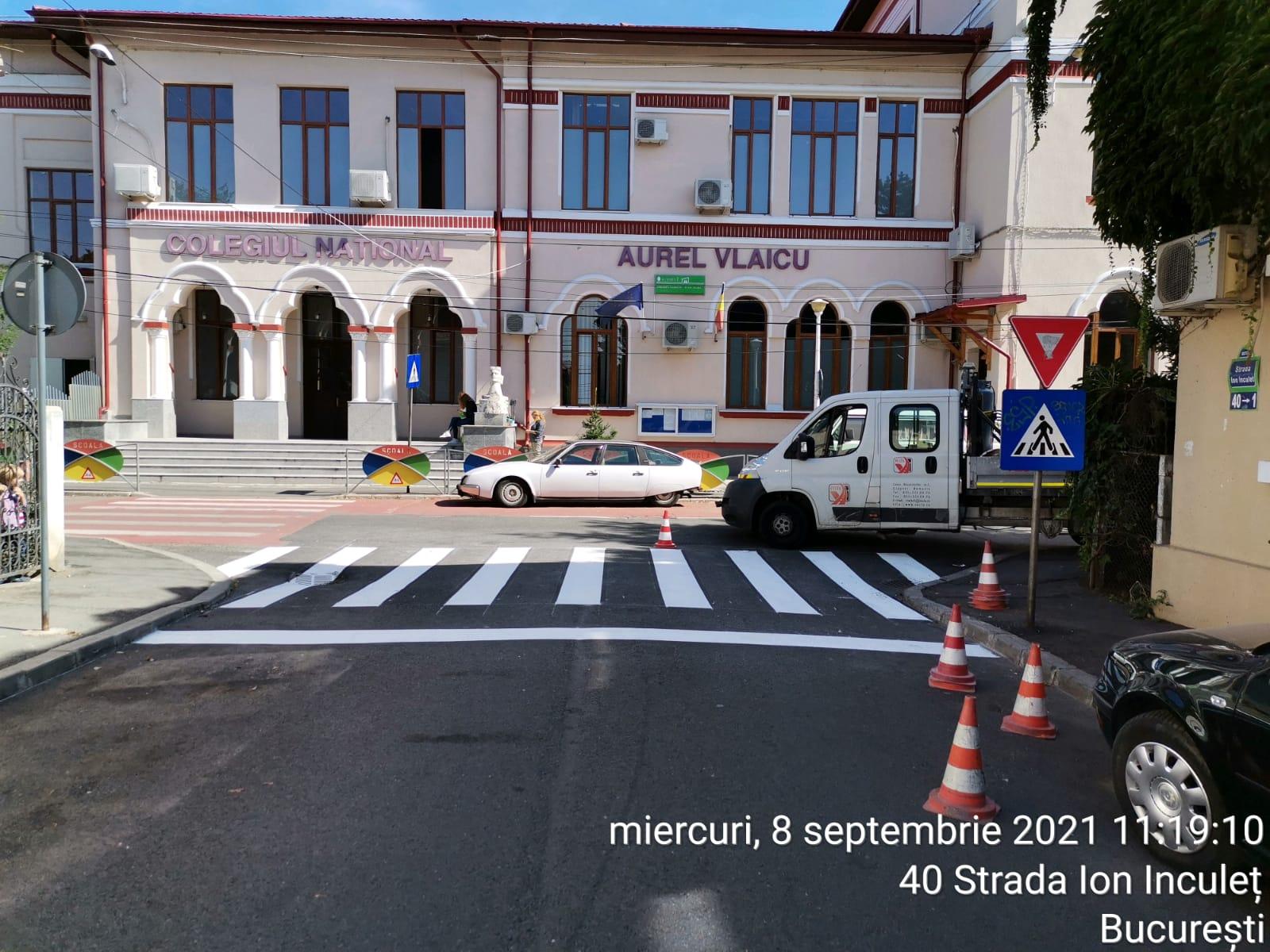 Am intensificat lucrările de semnalizare rutieră în preajma unităților de învățământ