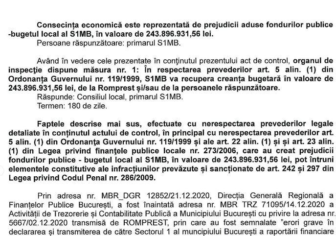 Ministerul Finanțelor: Romprest a prejudiciat Sectorul 1 cu 243 de milioane lei. Recuperați banii!